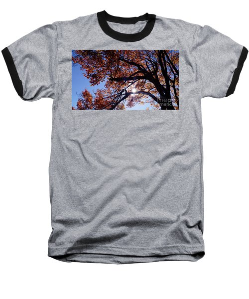 Sun Peaking Threw Baseball T-Shirt by Debra Crank