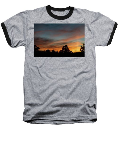 Sun Pillar Sunset Baseball T-Shirt by Jason Coward