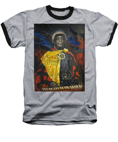 Sun-ra - Jazz Artist Baseball T-Shirt by Sigrid Tune