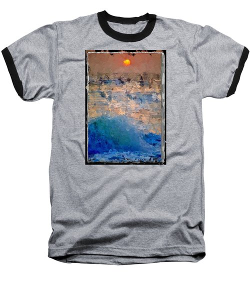 Sun Rays Abstract Baseball T-Shirt by Anthony Fishburne