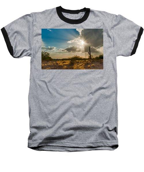 Baseball T-Shirt featuring the photograph Sun Rays In Tucson by Dan McManus