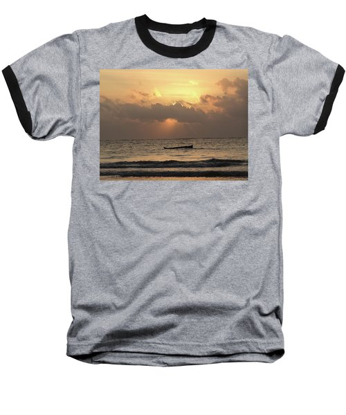 Sun Rays On The Water With Wooden Dhows Baseball T-Shirt