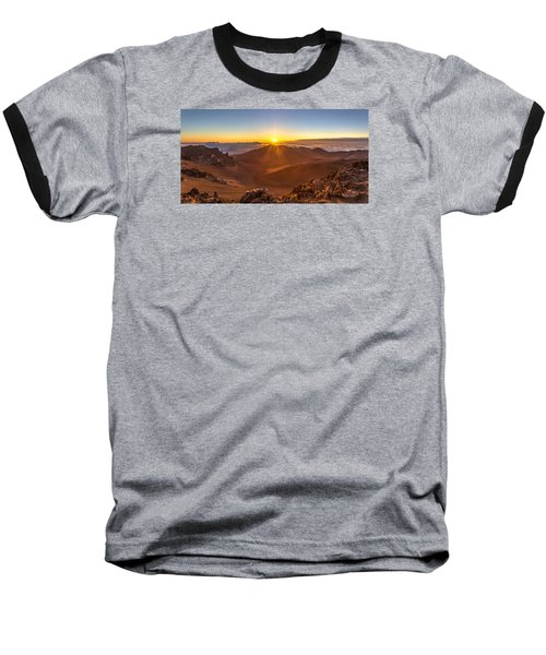 Sun Rising Mount Haleakala Baseball T-Shirt by Pierre Leclerc Photography