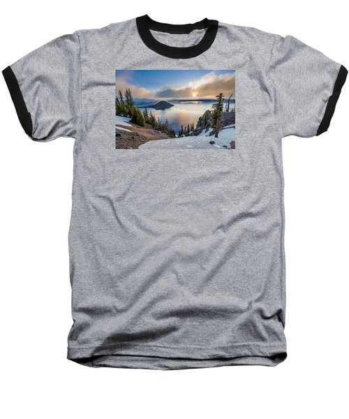 Sun Rising Through Mists Baseball T-Shirt