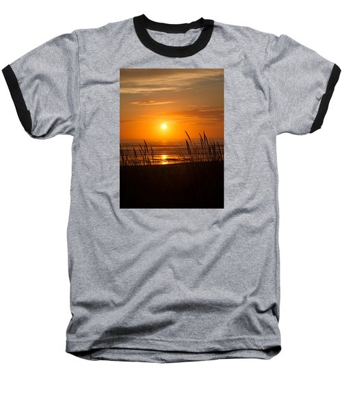 Baseball T-Shirt featuring the photograph Sun Setting 2 by Adria Trail