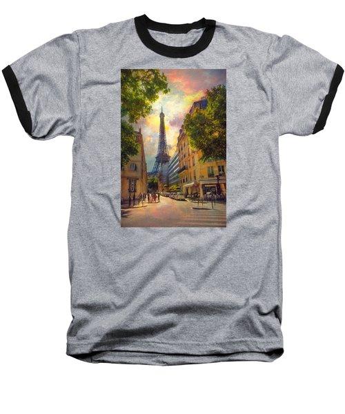 Sun Setting Baseball T-Shirt