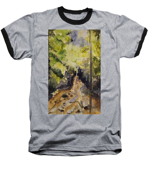 Baseball T-Shirt featuring the painting Sun Shines Through by Geeta Biswas