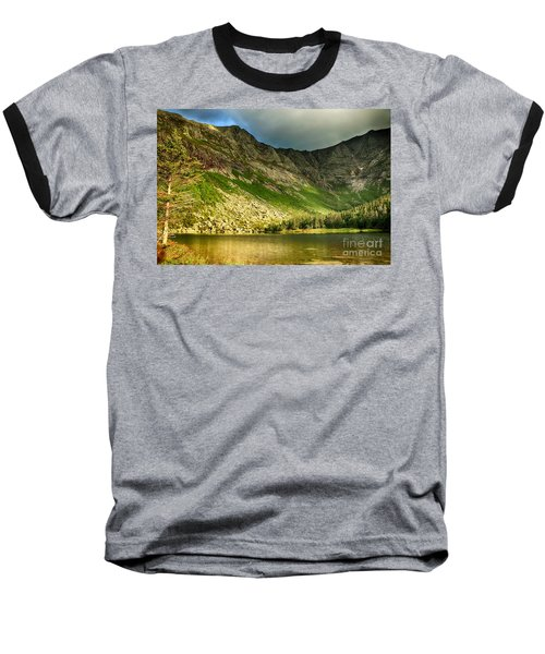 Sun Shining On Chimney Pond  Baseball T-Shirt
