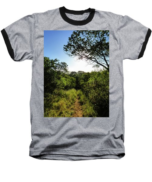 Sun Shining Over A Hiking Path In The Atlantic Forest Baseball T-Shirt