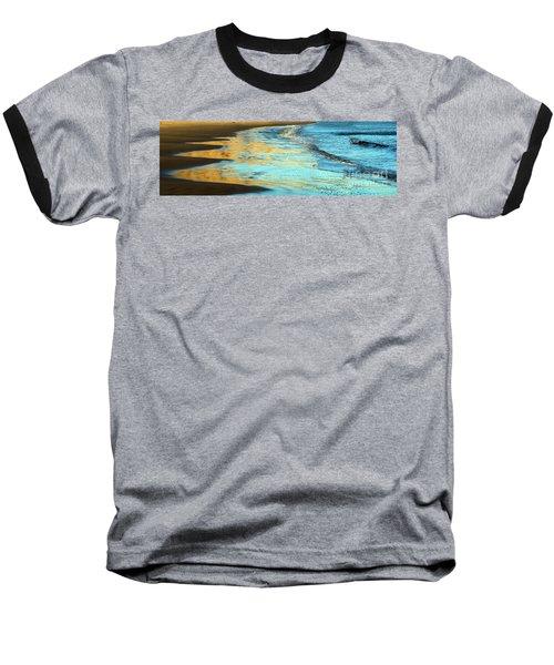 Sun Splashed Waves At Point Reyes National Seashore California Baseball T-Shirt by Wernher Krutein
