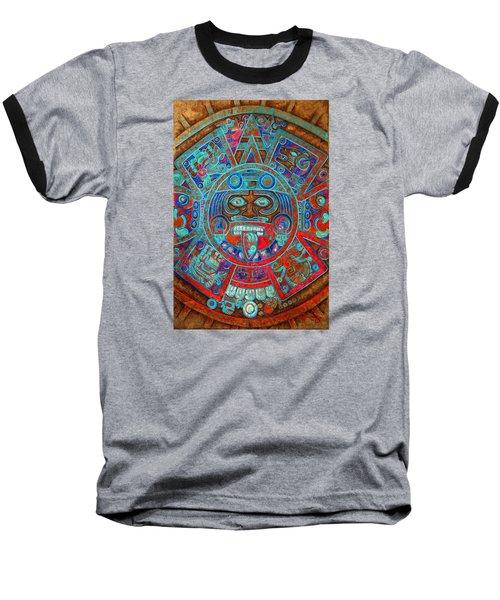 Sun Stone Baseball T-Shirt by J- J- Espinoza