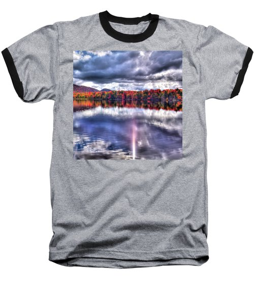 Baseball T-Shirt featuring the photograph Sun Streaks On West Lake by David Patterson