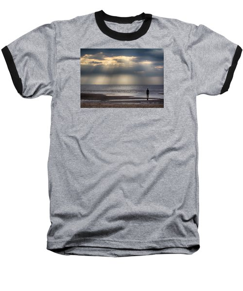 Sun Through The Clouds 2 5x7 Baseball T-Shirt