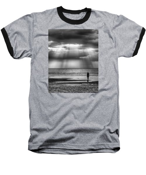 Sun Through The Clouds Bw 11x14 Baseball T-Shirt