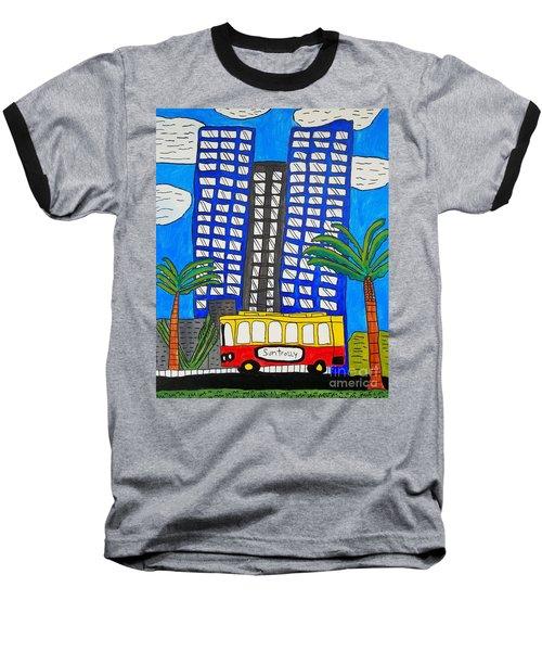 Sun Trolley Baseball T-Shirt by Brandon Drucker