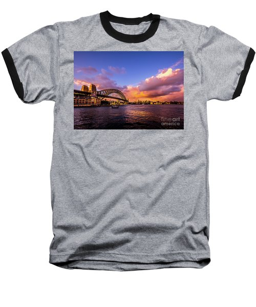 Baseball T-Shirt featuring the photograph Sun Up by Perry Webster