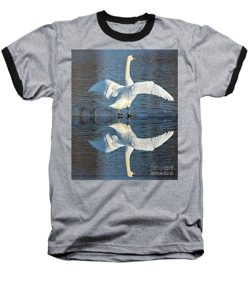 Sunbathing Swans Baseball T-Shirt