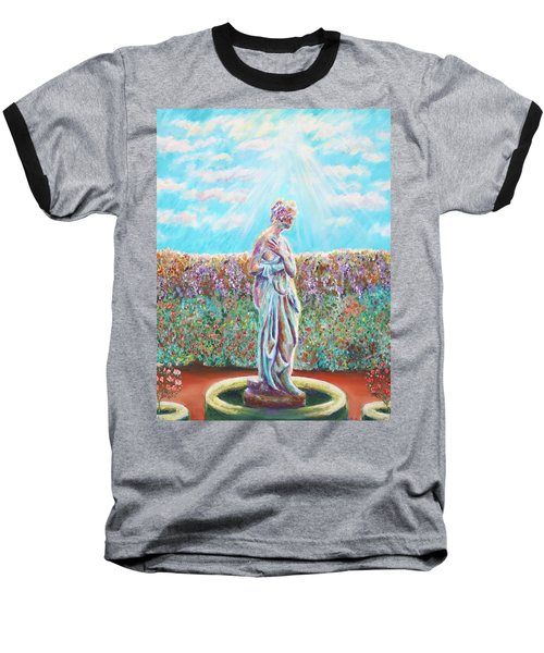 Baseball T-Shirt featuring the painting Sunbeam by Elizabeth Lock