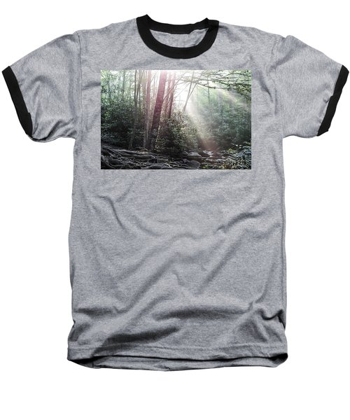 Sunbeam Streaming Into The Forest Baseball T-Shirt