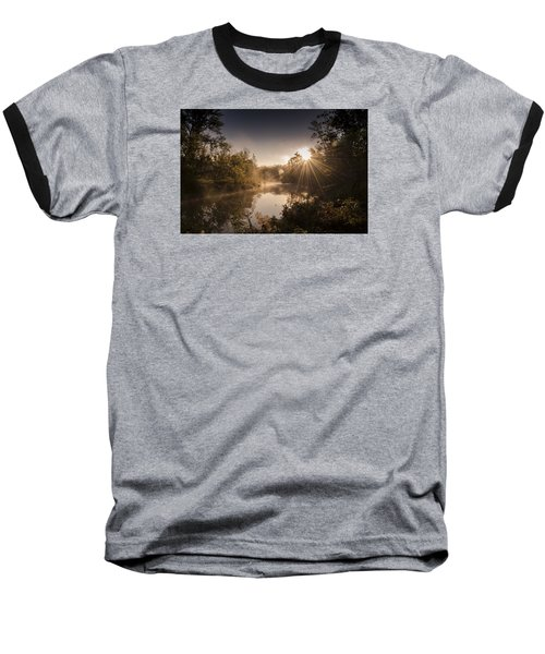 Baseball T-Shirt featuring the photograph Sunbeams  by Annette Berglund