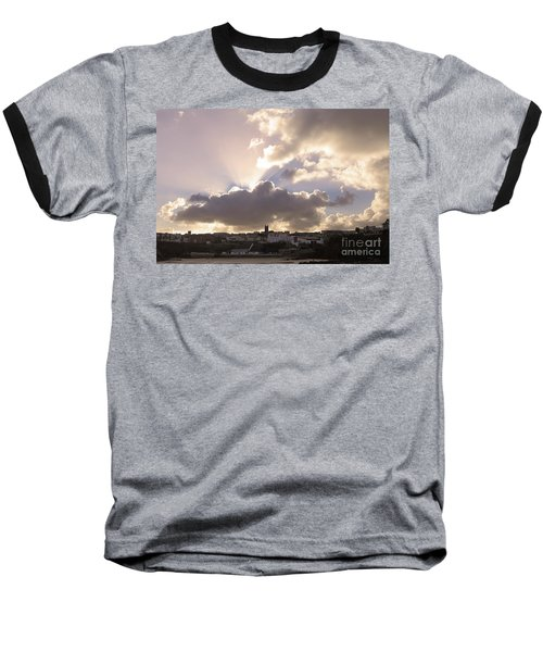 Baseball T-Shirt featuring the photograph Sunbeams Over Church In Color by Nicholas Burningham
