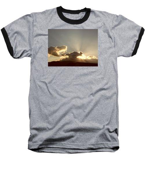 Trumpeting Triumphantly Sunrise Baseball T-Shirt by Deborah Moen