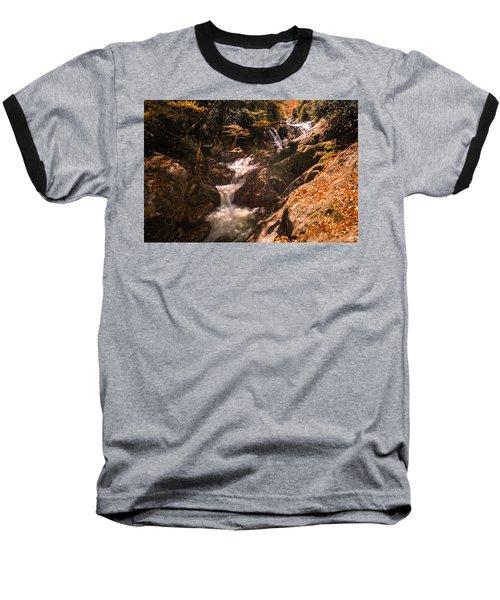 Sunburst Falls Baseball T-Shirt by Cathy Donohoue