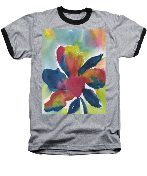 Baseball T-Shirt featuring the painting Sunburst by Frank Bright