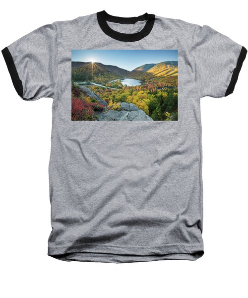 Sunburst Over Franconia Notch Baseball T-Shirt