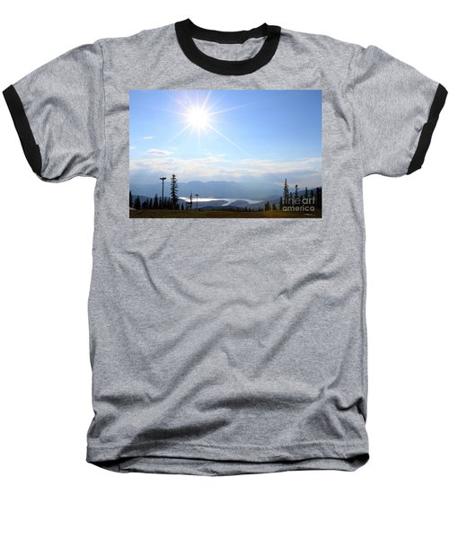 Sunburst Over Lake Dillon Baseball T-Shirt