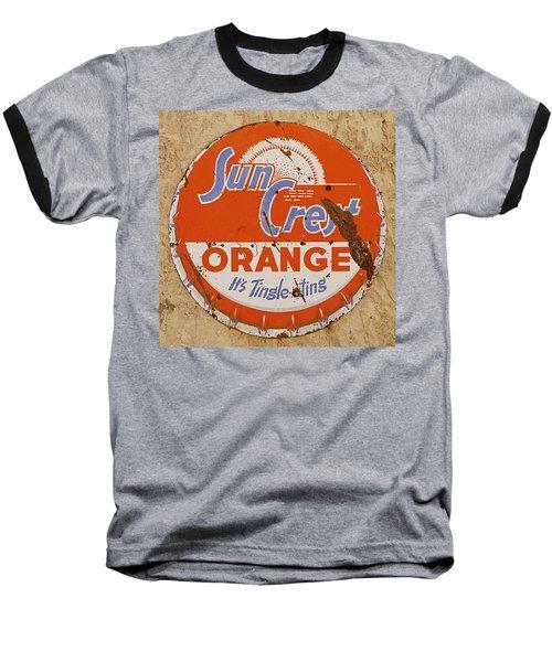 Suncrest Orange Soda Cap Sign Baseball T-Shirt