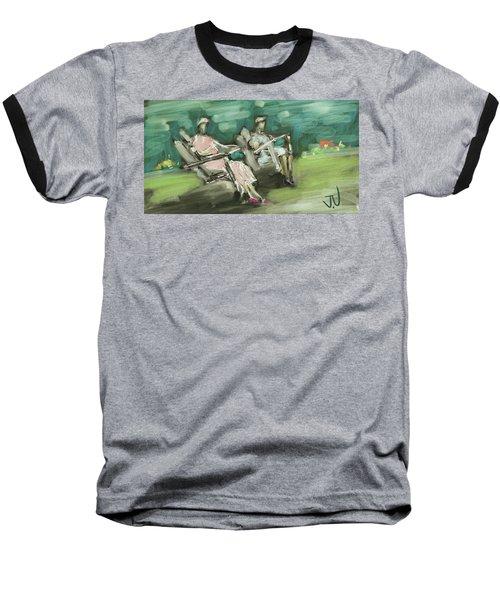 Sunday Afternoon Tea Baseball T-Shirt by Jim Vance