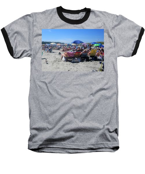 Sunday At The Beach Baseball T-Shirt by Paul Meinerth