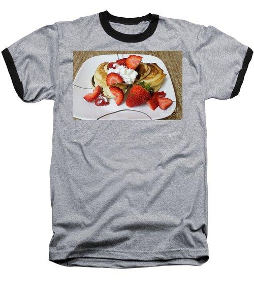Sunday Breakfast - Food- Kitchen Art Baseball T-Shirt by Anne Rodkin