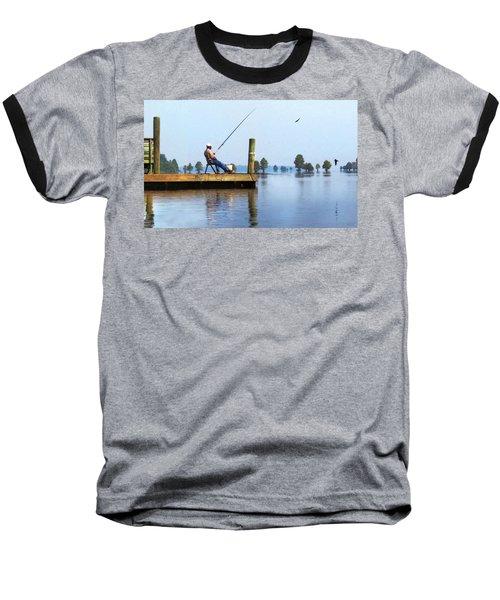 Sunday Fisherman Baseball T-Shirt