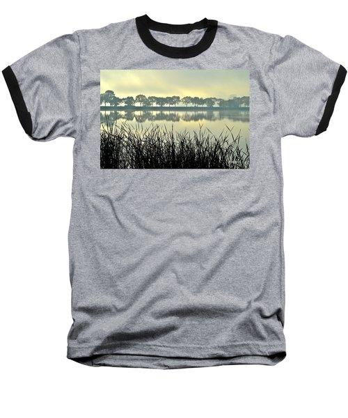 Fog At Sunrise Baseball T-Shirt