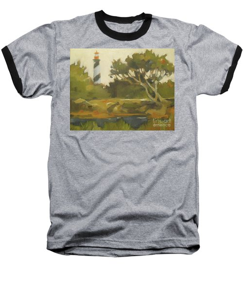 Sunday Lighthouse Baseball T-Shirt by Mary Hubley
