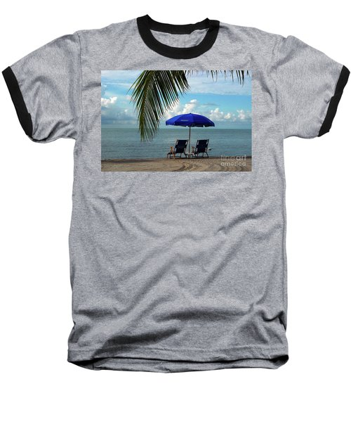 Sunday Morning At The Beach In Key West Baseball T-Shirt by Susanne Van Hulst