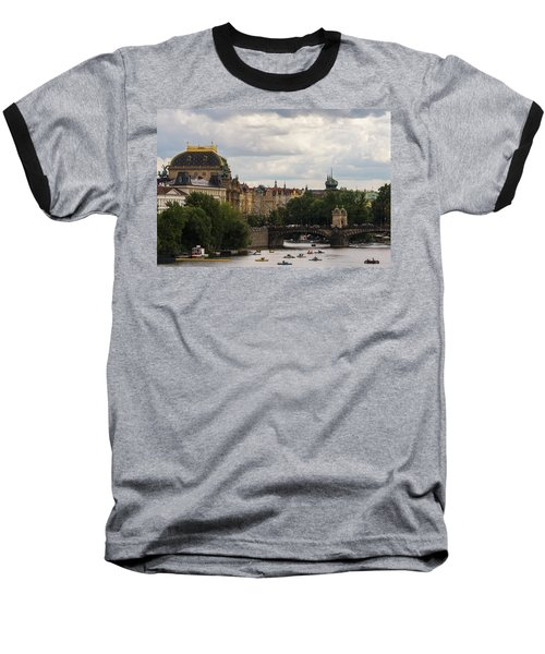 Baseball T-Shirt featuring the photograph Sunday On The Water by Alex Lapidus