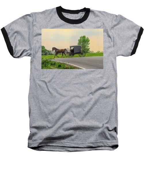 Sunday Ride At Sunset On Ronks Road Baseball T-Shirt
