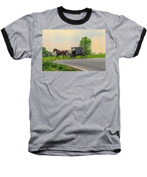 Sunday Ride At Sunset On Ronks Road Baseball T-Shirt