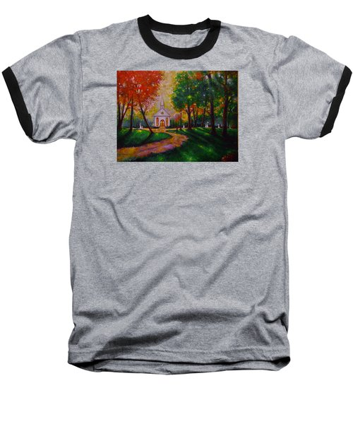Baseball T-Shirt featuring the painting Sunday School by Emery Franklin