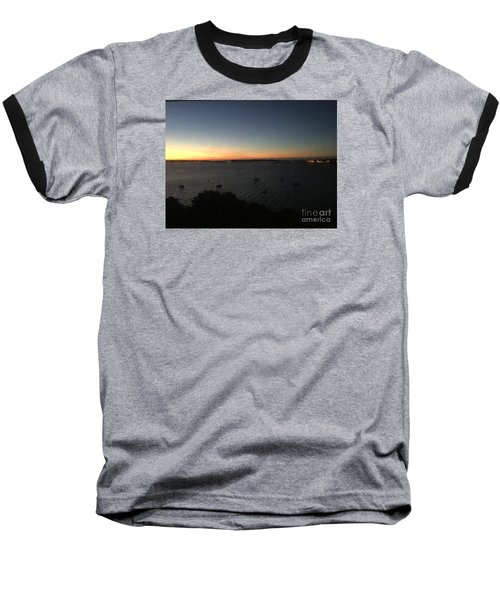 Sunday Sunrise, October 4, 2015, Casco Bay, Portland, Maine Baseball T-Shirt by Patricia E Sundik