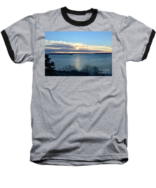 Sunday Sunrise On Casco Bay Baseball T-Shirt