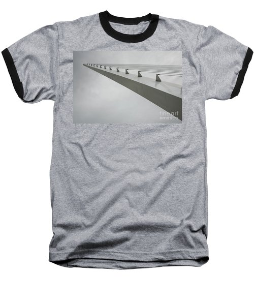 Sundial Perspective Baseball T-Shirt by Carol Lynn Coronios