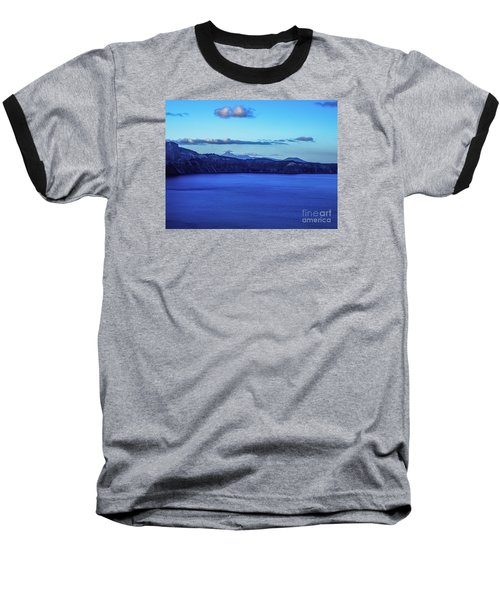 Baseball T-Shirt featuring the photograph Sundown At Crater Lake by Nancy Marie Ricketts