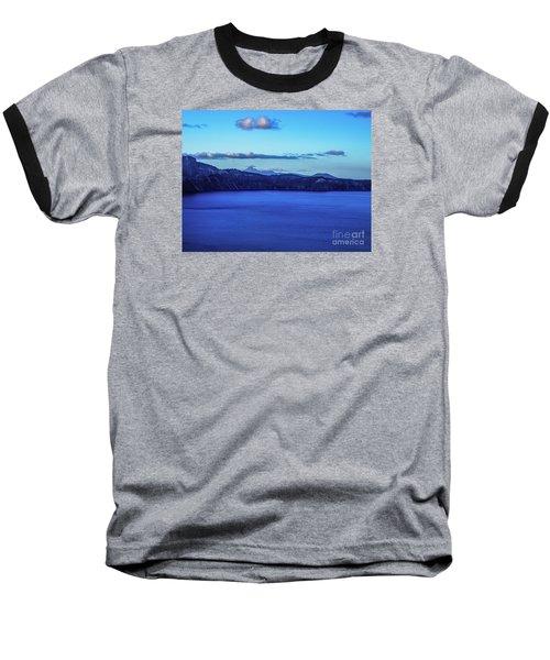 Sundown At Crater Lake Baseball T-Shirt