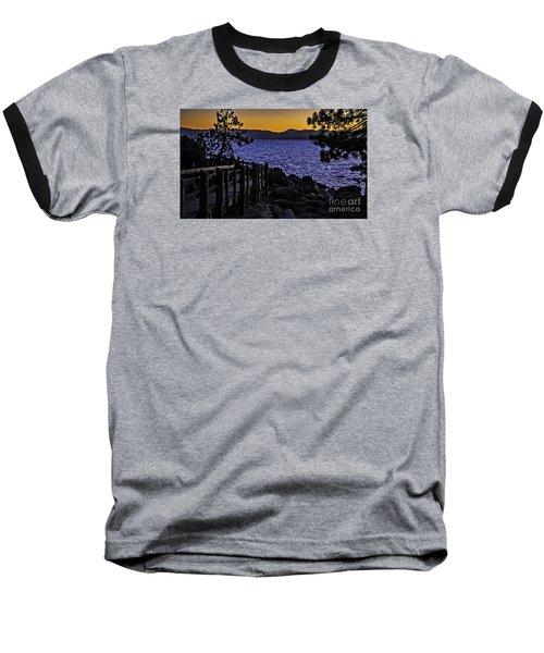 Baseball T-Shirt featuring the photograph Sundown At Sand Harbor by Nancy Marie Ricketts