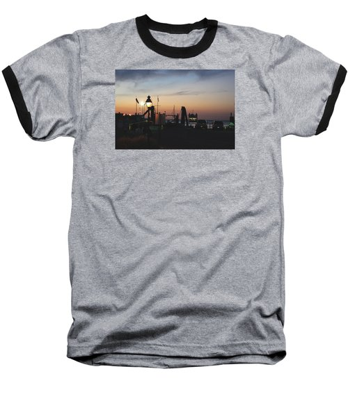 Baseball T-Shirt featuring the photograph Sundown At The Harbor by Margie Avellino