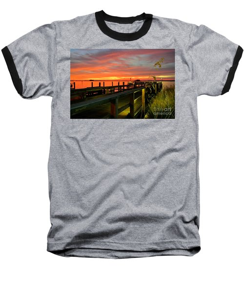 Baseball T-Shirt featuring the photograph Sundown by Elfriede Fulda